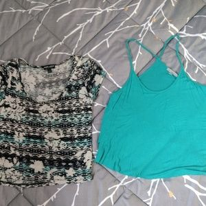 2x Super Soft Stretchy Crop Tops S M